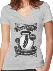 Phoenix Downs Lift You Up! Women's Fitted V-Neck T-Shirt