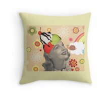 She Loved Ice Cream! Throw Pillow