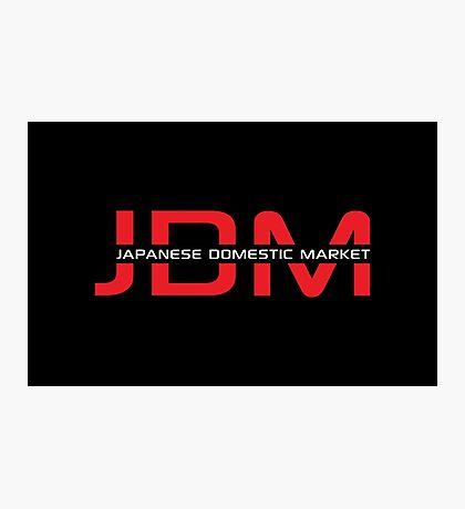 JDM Japanese Domestic Market (dark background) Photographic Print