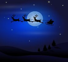 Santa's Night Ride by Arizonagirl