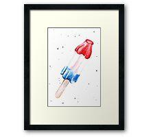 Watercolor Popsicle Framed Print