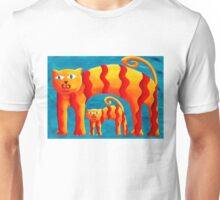 Curved Cats Unisex T-Shirt