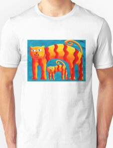 Curved Cats T-Shirt