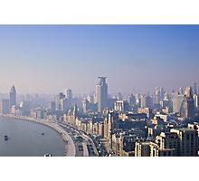 The Bund in the morning mist Photographic Print