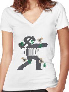 loads of money Women's Fitted V-Neck T-Shirt