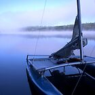 Hobie on Kennebec Lake by Debbie Pinard