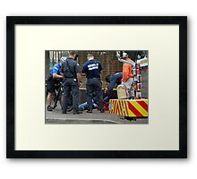 Injured in the City Framed Print