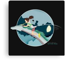 Ghibli Cutouts - Spirited Away Canvas Print