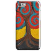 Recovery Tree ~ print of oil pastel portrait iPhone Case/Skin