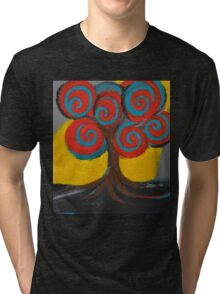 Recovery Tree ~ print of oil pastel portrait Tri-blend T-Shirt