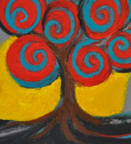 Recovery Tree ~ print of oil pastel portrait Sticker