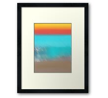 Abstract Ocean Framed Print