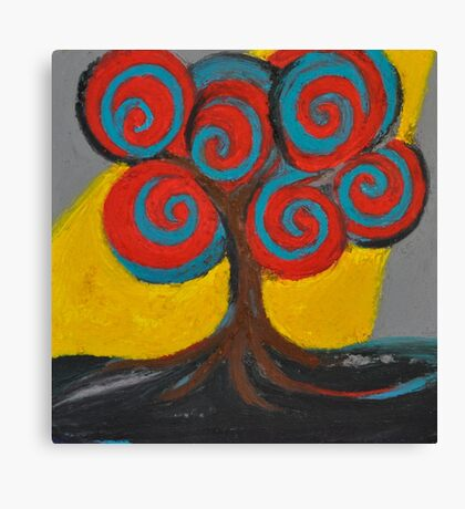Recovery Tree ~ print of oil pastel portrait Canvas Print