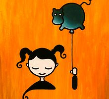 Hippopotamus Dream - Girl with Balloon by Sibylle Dorr