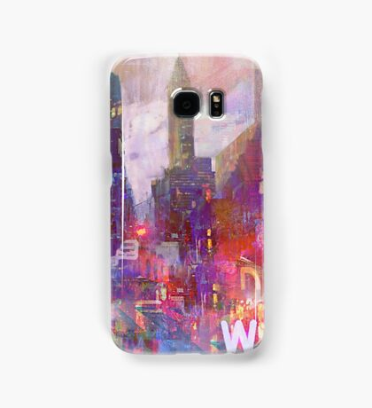 Snowstorm on the city Samsung Galaxy Case/Skin