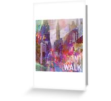 Snowstorm on the city Greeting Card