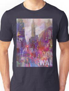 Snowstorm on the city Unisex T-Shirt