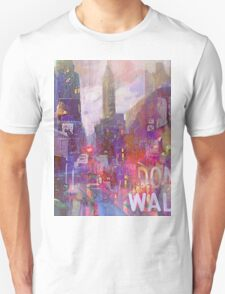 Snowstorm on the city Unisex T-Shirt