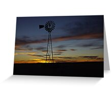 Sunset over the Plains Greeting Card