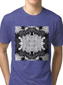 Flowers black&white Tri-blend T-Shirt