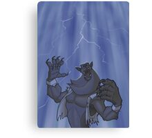 Badass Werewolf Roaring In Lightning Canvas Print