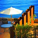 Sea Balcony View at sunset in Côte d'Azur, FRANCE by Atanas Bozhikov NASKO