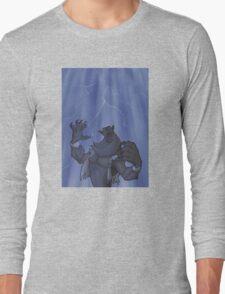 Badass Werewolf Roaring In Lightning Long Sleeve T-Shirt