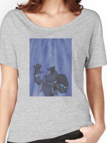 Badass Werewolf Roaring In Lightning Women's Relaxed Fit T-Shirt