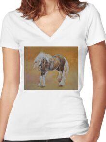 Gypsy Pony Women's Fitted V-Neck T-Shirt