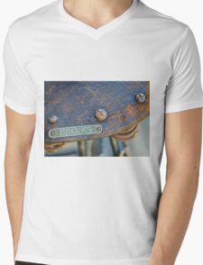 Brooks vintage bicycle saddle Mens V-Neck T-Shirt