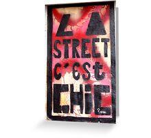 brick lane graffiti la street Greeting Card