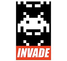 OBEY STYLE SPACE INVADER Photographic Print
