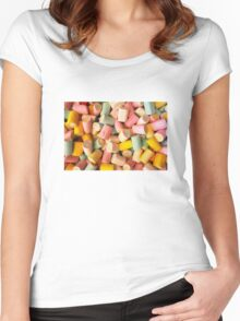 Marshmallows candy Women's Fitted Scoop T-Shirt