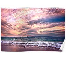 Sunset at Cottesloe Beach, Perth WA Poster
