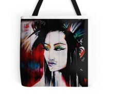 brick lane graffiti oriental girl Tote Bag