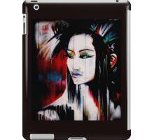 brick lane graffiti oriental girl iPad Case/Skin