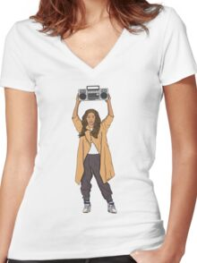 Beyonce Anything Women's Fitted V-Neck T-Shirt