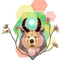 Horned Bear by Sugarfiend