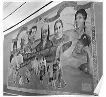 Spanish Mercada Mural Poster