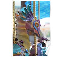 The Sea Horse on the Carousel at Disney's California Adventure Park  Poster