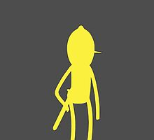 Adventure Time - Lemongrab silhouette phone case by Alex Bunt