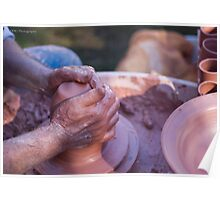 The Potter's Hands Poster