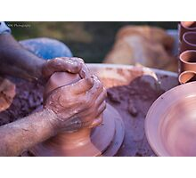 The Potter's Hands Photographic Print