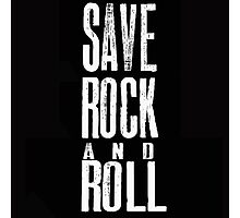 save rock and roll Photographic Print