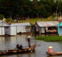 A Floating Community - Viet Nam Sticker