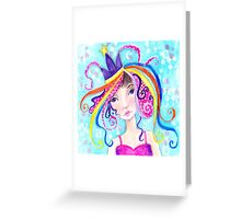 Whimiscal Party Girl Greeting Card