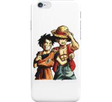 Monkey D. Luffy and Goku iPhone Case/Skin