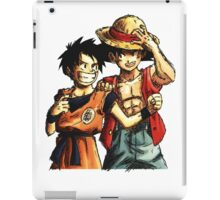 Monkey D. Luffy and Goku iPad Case/Skin