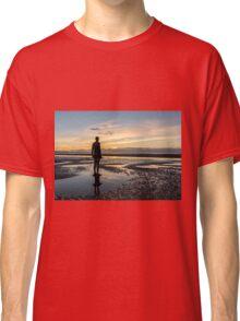Sunset light, Crosby beach Classic T-Shirt