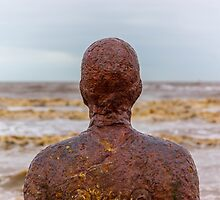 Man of Iron, Crosby beach, Liverpool by Beverley Goodwin